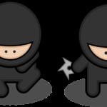 【折り紙で手裏剣】2枚で簡単でかっこいい折り方!英語で手裏剣の説明・作り方も